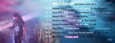 Ackboo tournée live