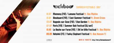 Ackboo - summer tour 2017 festivals Reggae Dub